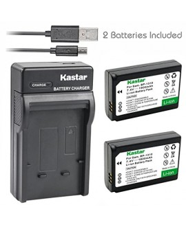 Kastar Battery (X2) & Slim USB Charger for Samsung BP-1310, BP1310, ED-BP1310 and Samsung NX5, NX10, NX11, NX20, NX100 Digital Cameras