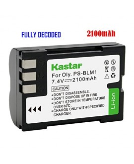 Kastar Battery (1-Pack) for Olympus BLM-1, BLM-01, PS-BLM1 work for Olympus C-5060, C-7070, C-8080, E-1, E-3, E-30, E-520, EVOLT E-300, E-330, E-500, E-510 Cameras