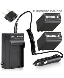 Kastar Battery 2x + Charger for Panasonic AG-VBR89G AG-VBR59 AG-VBR118G AG-BRD50 AG-B23 & AG-DVX200 AG-AC8 AG-AC90A AG-DVC30 AG-HPX250 HPX255 HVX201 AJ-PX230 AJ-PX270 AJ-PX298 AJ-PG50 HC-MDH2 HC-X1000