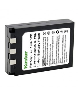 Li-10B/12B 3.7V 1150mAh Li-ion rechargeable battery Compatible with Olympus:MJU: 10, 15, 20, 25, 30, 40, 300, 400, 410, 500, 600, 800 810, 1000, Ferrari Stylus: Stylus 300, Stylus 300 Digital, Stylus 400, Stylus 400 Digital, Stylus 410, Stylus 410 Digital