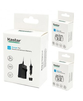 Kastar Battery (X2) & Travel Charger Kit for Panasonic DMW-BCM13 BCM13PP and Lumix DMC-FT5 DMC-LZ40 DMC-TS5 TS6 DMC-TZ37 TZ40 TZ41 TZ55 TZ60 DMC-ZS27 DMC-ZS30 DMC-ZS35 DMC-ZS40 DMC-ZS45 DMC-ZS50