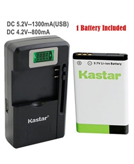 Kastar BL-5C Battery (1-Pack) and intelligent mini travel Charger ( with high speed portable USB charge function) for NOKIA 1100, 2112, 2270, 2280, 2285, 2300, 2600, 2850, 3100, 3105, 3120, 3600, 3620, 3650, 3660, 5140, 6108, 6280, 5030, 5130, 6030, 6085