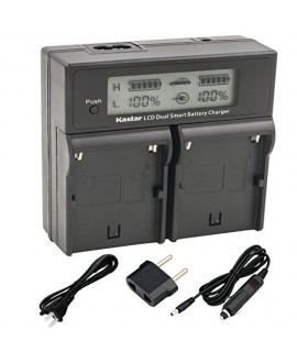 Kastar LCD Dual Smart Fast Charger for Sony BP-U90, BPU90, BP-U96 and PMW-100, PMW-150, PMW-160, PMW-200, PMW-300, PMW-EX1, PMW-EX1R, PMW-EX3, PMW-EX160, PMW-EX260, PMW-EX280, PMW-F3, PXW-FS5, PXW-FS7