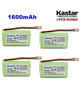 Kastar 4 PACK AAX2 2.4V Phone Battery for Vtech Bt17333 Bt27333 Cs2111 Cs5111 Cs5121 Cs5121-2 Cs5111-2 Cs5121-3 Cs5211 At&t 01839 24112 4128 El41108 El41208 Radio Shack Cs90174 12280731 23-956 23-9069