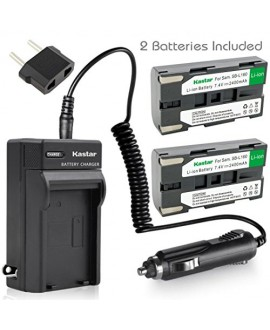 Kastar Battery 2x & AC Travel Charger for Samsung SB-L160 and SC-L520 530 550 600 610 630 650 700 710 750 770 810 VP-W75D VM-B5700 VM-C170 VM-C300 VM-C3700 VP-W80 VP-W80U VP-W87 VP-W87D VP-W90 VP-W97