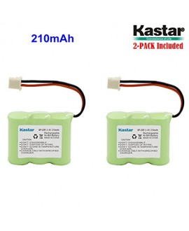 Kastar Battery (2-PACK) for Dogtra Receiver 175NCP, 200NCP, 202NCP 280NCP 282NCP, 300M, 302M, 7000M, 7002M Dogtra BP-20R BP20R fits NCP180 NCP200 NCP202 NCP210 Remote Controlled Dog Training Collar
