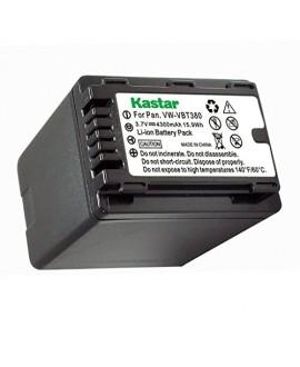 Kastar Battery (1-Pack) for Panasonic VW-VBT380 and Pansonic HC-V110 V130 V160 V180 HC-V201 V210 V250 HC-V380 HC-V510 V520 V550 HC-V710 V720 V750 V770 HC-VX870 HC-VX981 HC-W580 W850 HC-WXF991 Cameras