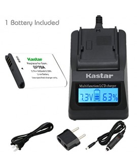 Kastar Ultra Fast Charger Kit and BP-70A Battery (1-Pack) for Samsung BP70A, EA-BP70A work with Samsung AQ100, DV150F, ES65, ES67, ES70, ES71, ES73, ES74, ES75, ES80, MV800, PL20, PL80, PL90, PL100, PL101, PL120, PL170, PL200, PL201, SL50, SL600, SL605, S