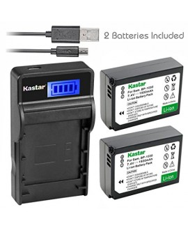 Kastar Battery (X2) & SLIM LCD Charger for Samsung BP1030, BP1030B, BP1130, ED-BP1030 and Samsung NX200, NX210, NX300, NX300M, NX1000, NX1100, NX2000 Cameras