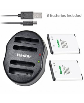 Kastar Battery(X2) & Dual USB Charger for Nikon EN-EL19 & Coolpix S32 S100 S2500 S2600 S2700 S2800 S3100 S3200 S3300 S3400 S3500 S3600 S4100 S4200 S4300 S4400 S5200 S5300 S6400 S6500 S6600 S6700 S6800