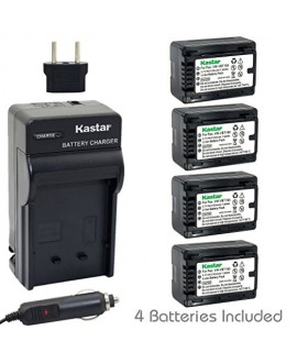 Kastar Battery (4-Pack) and Charger Kit for Panasonic VW-VBT190 and HC-V110 V130 V160 V180 HC-V201 V210 V250 HC-V380 HC-V510 V520 V550 HC-V710 V720 V750 V770 HC-VX870 HC-VX981 HC-W580 W850 HC-WXF991