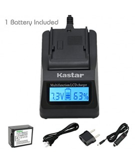 Kastar Ultra Fast Charger(3X faster) Kit and Battery (1-Pack) for Panasonic DMW-BLB13, DMW-BLB13E, DMW-BLB13GK and Panasonic DE-A49, DE-A49C work with Panasonic Lumix DMC-G1, DMC-G2, DMC-G10, DMC-GF1, DMC-GH1 Cameras [Over 3x faster than a normal charger