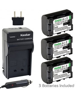 Kastar BN-VG114 Battery (3-Pack) and Charger Kit for JVC BN-VG107 BN-VG107U BN-VG108U BN-VG108E BN-VG114 BN-VG114U BN-VG114US Rechargeable Lithium-ion Battery