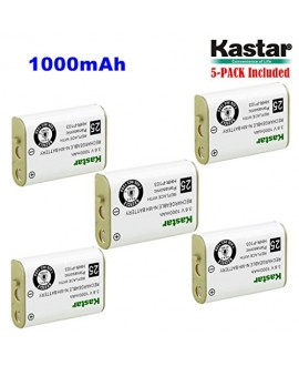 Kastar HHR-P103 Battery (5-Pack), Type 25, NI-MH Rechargeable Battery 3.6V 1000mAh, Replacement for Panasonic HHR-P103 / P-P103, AT&T, GE, Vtech Cordless phone (Detail Models in the Description)