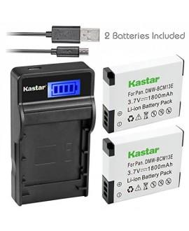 Kastar Battery (X2) & SLIM LCD Charger for Panasonic DMW-BCM13 BCM13PP and Lumix DMC-FT5 DMC-LZ40 DMC-TS5 TS6 DMC-TZ37 TZ40 TZ41 TZ55 TZ60 DMC-ZS27 DMC-ZS30 DMC-ZS35 DMC-ZS40 DMC-ZS45 DMC-ZS50