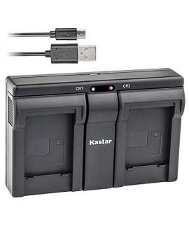 Kastar BLE9 USB Dual Charger for Panasonic DMW-BLE9, DMW-BLE9E, DMW-BLE9PP, DMW-BLG10 work with Panasonic Lumix DMC-GF3, DMC-GF5, DMC-GF6, DMC-GX7, DMC-LX100 Cameras
