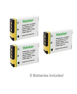 Kastar Battery (3-Pack) for Kodak KLIC-7003, K7003, and GE GB-40 work for Kodak EasyShare M380, EasyShare M381, EasyShare M420, EasyShare V803, EasyShare V1003, EasyShare Z950 and GE E1030, E1040, E1050TW, E1240, E1250TW, E850, H855 Cameras