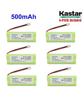 Kastar 6-PACK 4.8V 500mAh Ni-MH Rechargeable Battery Replacement for Dogtra BP12RT Dog Training Collar Receiver and 1900 NCP, 1902 NCP, 300M, YS500, SureStim H Plus, 1900 NCP, 302M and more Models