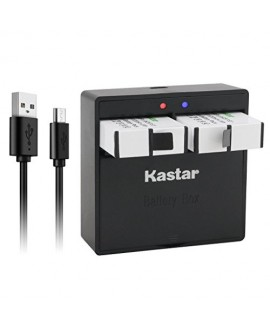Kastar Battery (2-Pack) & Dual USB Charger for GoPro HERO5, Hero 5 Black, Gopro5 and GoPro AHDBT-501, AHBBP-501 Sport Camera (Compatible with Firmware v01.57, v01.55 and Future Update)