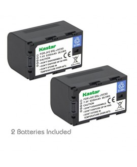 Kastar Battery (2-Pack) for JVC SSL-JVC50 and JVC GY-HMQ10, GY-LS300, GY-HM200, GY-HM600, GY-HM600E, GY-HM600EC, GY-HM650 Camcorders