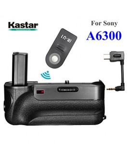 Kastar Infrared Remote Control Professional Vertical Battery Grip (Built-In 2.4G Wireless Control) for Sony ILCE-A6300 / A6300 Digital SLR Camera