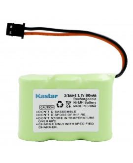 Kastar 10-P 2/3AA 3.6V 800mAh MSM Ni-MH Rechargeable Battery for Panasonic KX-TCM410 KX-A36 P-P301 Sony SPP-72/AQ25/AQ600 1-528-376-31 BP-T16/T185 Toshiba FF-675 FT-6203 TRB-5000 Uniden XC-315/330/600