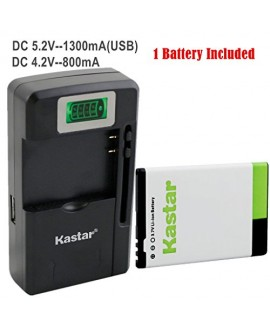 Kastar BP-3L Battery (1-Pack) and intelligent mini travel Charger ( with high speed portable USB charge function) for Nokia Lumia 710 Sabre, N303, N603, 610, 3030, Asha 303, Lumia 510, Glory, Lumia 510.2, AT&T, T-Mobile, Sprint, Verizon Smartphone --Suppe