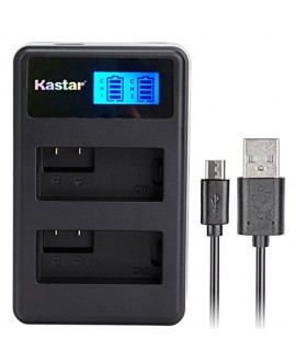 Kastar LCD Dual Slim Charger for Fujifilm NP-W126, BC-W126 and FinePix HS30EXR, FinePix HS33EXR, FinePix HS50EXR, FinePix X-A1, FinePix X-E1, X-E2, FinePix X-M1, FinePix X-Pro1, X-Pro2, FinePix X-T1
