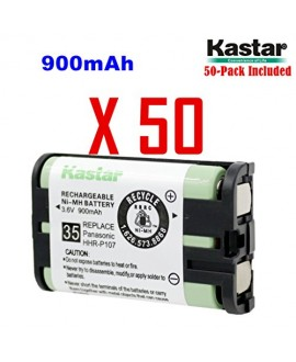Kastar HHR-P107 Battery (50-Pack), Type 35, NI-MH Rechargeable Cordless Telephone Battery 3.6V 900mAh, Replacement for Panasonic HHR-P107, HHR-P107A, HHR-P107A/1B, BB-GT1500, BB-GT1540, BB-GT1540B, BB-GTA150, BB-GTA150B, BB-GT1500B, KX-TG6021M, KX-TG6022B
