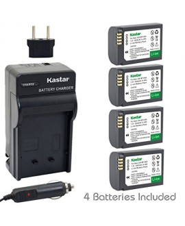 Kastar Battery (4-Pack) and Charger Kit for Samsung ED-BP1900, BP1900 Battery and Samsung NX1 Smart Wi-Fi 4K Digital Camera