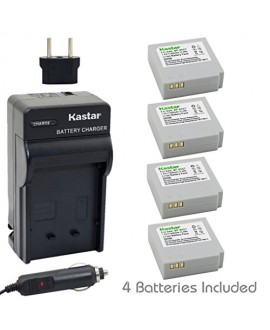 Kastar Battery (4-Pack) and Charger Kit for Samsung IA-BP85NF, IA-BP85ST work with Samsung HMX-H100, HMX-H104, HMX-H105, HMX-H106, SC-HMX10, SC-HMX20C, SC-MX10, SC-MX20, SMX-F30, SMX-F33, SMX-F34, VP-HMX08, VP-HMX10, VP-HMX10C, VP-HMX20C, VP-MX10, VP-MX20