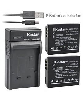 Kastar Battery (X2) & Slim USB Charger for Samsung IA-BH125C Ricoh DB-65 Sigma BP-41 Pentax D-Li106 Samsung HMX-R10 Ricoh GR GR-II GR-III GR-IV G700 GR Digital Sigma DP3M DP2 Merrill Pentax MX-1 X90
