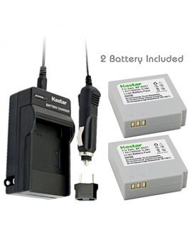 Kastar Battery (2-Pack) and Charger Kit for Samsung IA-BP85NF, IA-BP85ST work with Samsung HMX-H100, HMX-H104, HMX-H105, HMX-H106, SC-HMX10, SC-HMX20C, SC-MX10, SC-MX20, SMX-F30, SMX-F33, SMX-F34, VP-HMX08, VP-HMX10, VP-HMX10C, VP-HMX20C, VP-MX10, VP-MX20