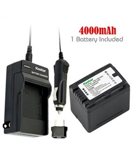 Kastar Battery (1-Pack) and Charger Kit for Panasonic VW-VBK360 work with Panasonic HC-V10, HC-V100, HC-V100M, HC-V500, HC-V500M, HC-V700, HC-V700M, HDC-HS60, HDC-HS80, HDC-SD40, HDC-SD60, HDC-SD80, HDC-SD90, HDC-SDX1H, HDC-TM40, HDC-TM41, HDC-TM55, HDC-T