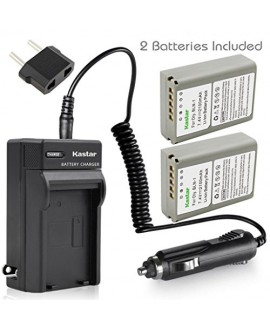 Kastar Battery (X2) & Travel Charger Kit for Olympus BLN-1, BCN-1, BLN1 and Olympus OM-D E-M1, OM-D E-M5, PEN E-P5 Digital Camera