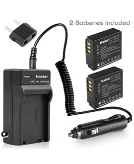 Kastar Battery (X2) & Travel Charger Kit for Panasonic CGA-S007 CGA-S007A CGR-S007 CGAS007 and DMC-TZ1 DMC-TZ2 DMC-TZ3 DMC-TZ4 DMC-TZ5 DMC-TZ11 DMC-TZ15 DMC-TZ50 DMC-TZ50-K DMC-TZ50-S Digital Camera