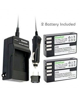 Kastar D-Li109 Battery (2-Pack) and Charger Kit for Pentax D-Li109, DLI109 work with Pentax K-R, K-30, K-50, K-500, KR, K30, K50, K500 Cameras