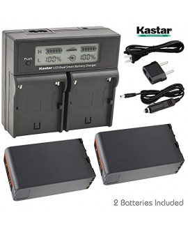 Kastar LCD Dual Smart Fast Charger & 2 x Battery for Sony BP-U90, BPU90, BP-U96 and PMW-100, PMW-150, PMW-160, PMW-200, PMW-300, PMW-EX1, EX3, PMW-EX160, PMW-EX260, PMW-EX280, PMW-F3, PXW-FS5, PXW-FS7