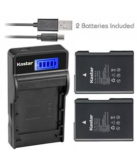 Kastar Battery (X2) & SLIM LCD Charger for Nikon EN-EL14, EN-EL14a, ENEL14, MH-24 and Nikon Coolpix P7000 P7100 P7700 P7800, D3100, D3200, D3300, D3400, D5100, D5200, D5300 DSLR, Df DSLR, D5600 Camera