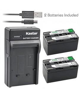 Kastar Battery (X2) & Slim USB Charger for Samsung SB-L320 and SC-L520 530 550 600 610 630 650 700 710 750 770 810 VP-W75D VM-B5700 VM-C170 VM-C300 VM-C3700 VP-W80 VP-W80U VP-W87 VP-W87D VP-W90 VP-W97