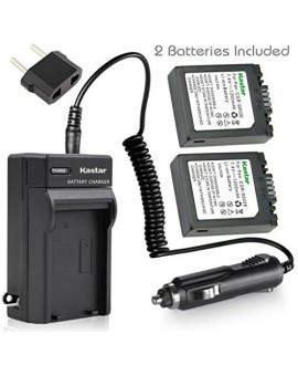 Kastar S002 Battery (2 Pack) and Charger Kit for Panasonic CGA-S002 DMW-BM7 and Panasonic Lumix DMC-FZ1 DMC-FZ2 DMC-FZ3 DMC-FZ4 DMC-FZ5 DMC-FZ10 DMC-FZ15 DMC-FZ20 Cameras