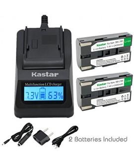 Kastar Fast Charger + Battery 2x for Samsung SB-L160 & Samsung SC-L520 530 550 600 610 630 650 700 710 750 770 810 VP-W75D VM-B5700 VM-C170 VM-C300 VM-C3700 VP-W80 VP-W80U VP-W87 VP-W87D VP-W90 VP-W97