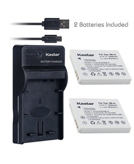 Kastar Battery (X2) & Slim USB Charger for Canon NB-4L, NB4L, CB-2LV and Canon PowerShot SD30 SD40 SD200 SD300 SD400 SD430 SD450 SD600 SD630 SD750 SD1000 SD1100, SD960 IS, SD780 IS +More