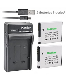 Kastar Battery (X2) & Slim USB Charger for Canon NB-8L, NB8L, CB-2LAE and Canon PowerShot A2200, PowerShot A3000 IS, PowerShot A3100 IS, PowerShot A3200 IS, PowerShot A3300 IS Cameras