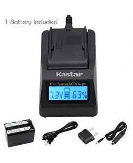 Kastar Fast Charger + Battery (1-Pack) for Canon BP-945, BP-950, BP-970, C2, FV1, FV500, Optura, Vistura, DM-XL2, DM-MV20, E65AS, ES-8600, G2000, GL2, MV200i, UC-V300, V75Hi, XH-G1, XL-H1, XM2, XV5