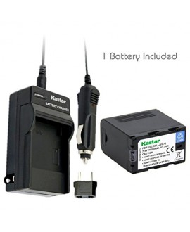 Kastar Battery (1-Pack) and Charger Kit for JVC SSL-JVC70 and JVC GY-HMQ10, GY-LS300, GY-HM200, GY-HM600, GY-HM600E, GY-HM600EC, GY-HM650 Camcorders