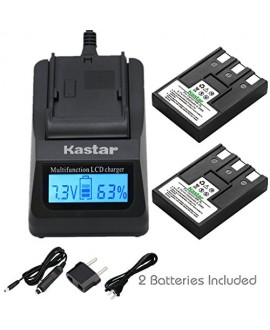 Kastar Fast Charger + Battery (2-Pack) for Canon NB-3L, PowerShot SD10, SD100, SD110, SD20, SD500, SD550, Digital IXUS 700, 750, i5, Digital 30, 600, 700, D30, D30a, D53Z, IXY Digital L, Digital L2