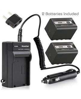 Kastar Battery 2x + Charger for Panasonic AG-VBR59 AG-VBR89G AG-VBR118G AG-BRD50 AG-B23 & AG-DVX200 AG-AC8 AG-AC90A AG-DVC30 AG-HPX250 HPX255 HVX201 AJ-PX230 AJ-PX270 AJ-PX298 AJ-PG50 HC-MDH2 HC-X1000