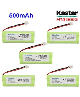 Kastar 5-PACK 4.8V 500mAh Ni-MH Rechargeable Battery Replacement for Dogtra BP12RT Dog Training Collar Receiver and 1900 NCP, 1902 NCP, 300M, YS500, SureStim H Plus, 1900 NCP, 302M and more Models