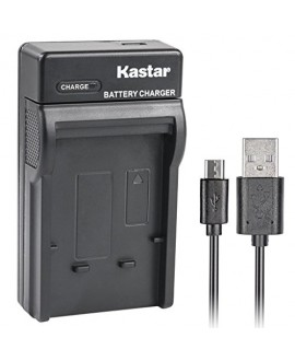 Kastar Slim USB Charger for JVC BN-VF808, BN-VF808U, BNVF808 and JVC Everio GZ-MG130 148 150 155 175 255 275 575 GZ-HD7 GR-D745 746 750 760 770 771 775 790 796 JVC MiniDV + More camcorders